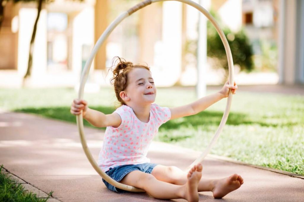 Homemade Obstacle Course For Preschoolers - Hula Hoop Obstacles