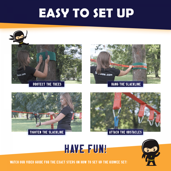 Ninja Obstacle Course Line - kidwee - easy to set up