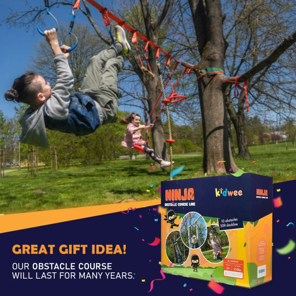 Ninja Obstacle Course Line - kidwee - perfect as a gift