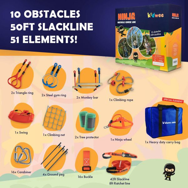 Ninja Obstacle Course Line - kidwee - the set